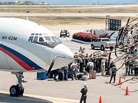 Самолеты Ан-124 и Ил-62 с российскими военнослужащими и 35 тоннами груза прибыли в субботу в обслуживающий Каракас международный аэропорт Майкетия имени Симона Боливара