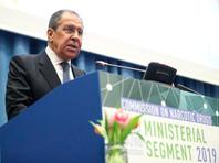 Глава МИД РФ Сергей Лавров выступил на заседании министерского сегмента 62-й сессии Комиссии ООН по наркотическим средствам