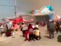 В Китае пыльный вихрь поднял в воздух надувные батуты с детьми: 2 погибших, 18 раненых